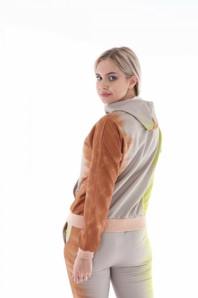 Kadın Eşofman Takım 3 İplik Kumaş Dijital Baskı Ayıcık Desen Geçişli Desen Avrupa Kalıp Rahat Spor Giyim Günlük Şıklık